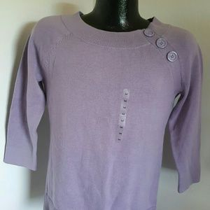 Ann Taylor women sweater lilac size M New